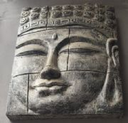 Buddha face wall plaque