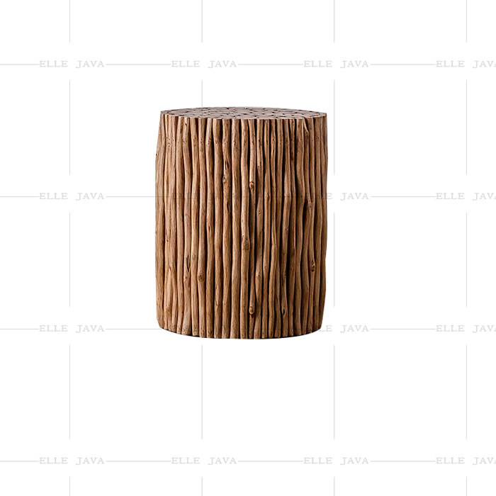 Round teak branch stool,Teak Furniture