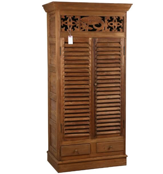 Tall cabinet with louvre doors,Antique Furniture