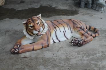 Laying tiger,Animal Statues