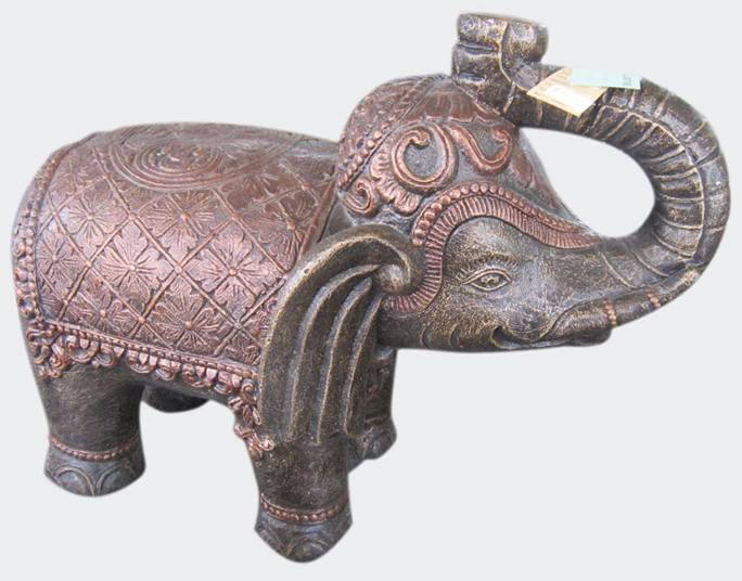 Elephant motif standing,Animal Statues