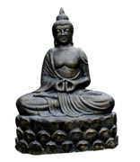 Buddha statue with a stand