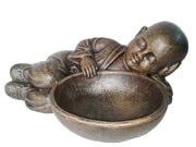 Buddha statue with a bowl