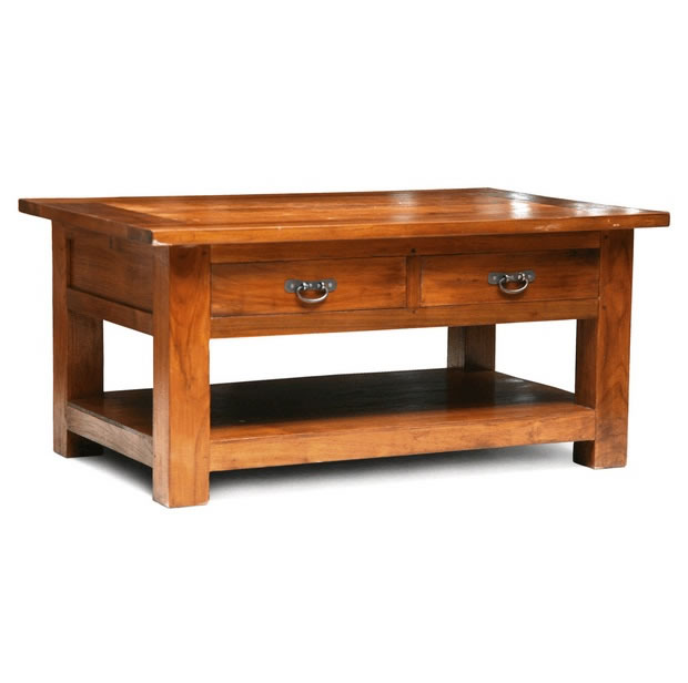 Coffee table with drawers,Solid Wooden Furniture