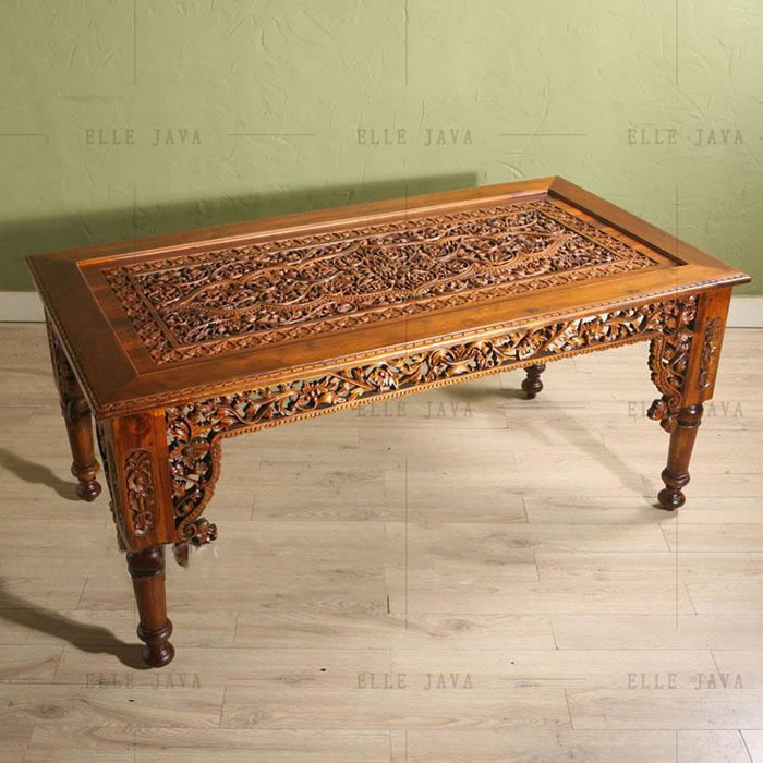Carved dinning table,Teak Furniture