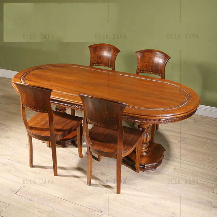 Dining table with six  chairs,Teak Furniture