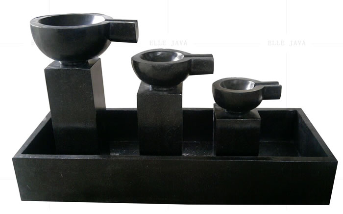 Set of 3 cup water feature,Other Types