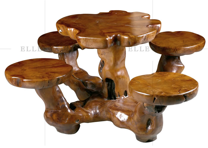 Garden table and stool setting,Teak Furniture