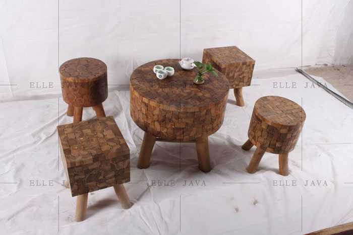 Table and stool setting,Teak Furniture