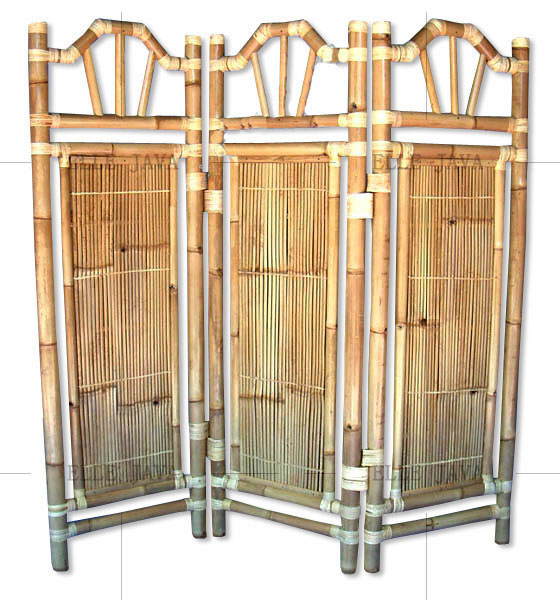 Three panel room divider,Bamboo Furniture