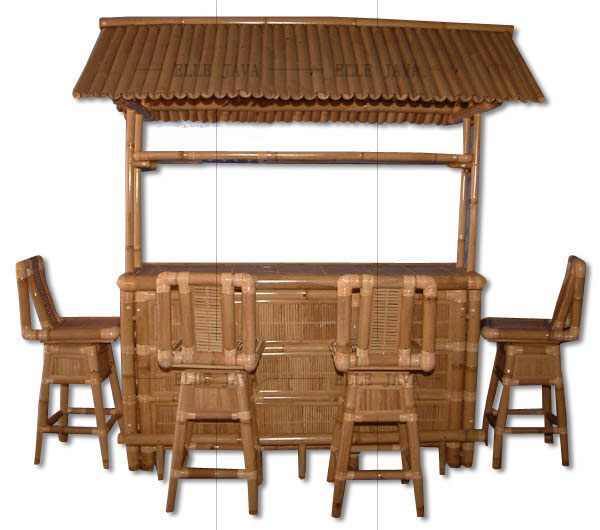 Bar with four chairs,Bamboo Furniture