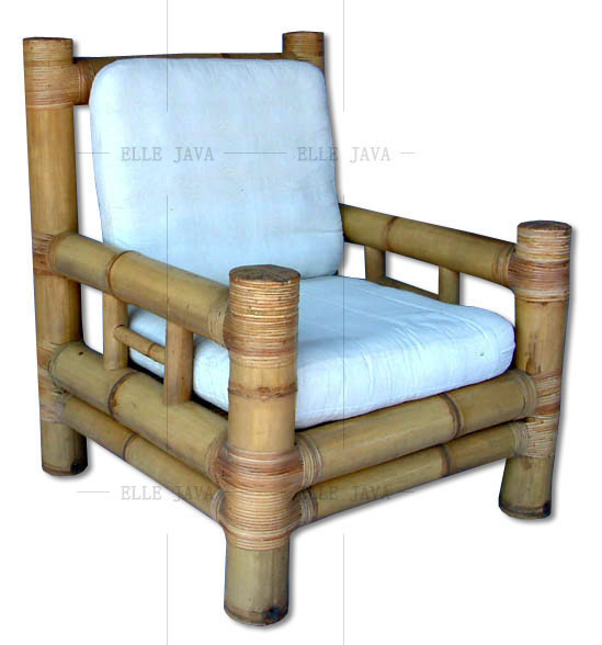 Lounge chair with cushions,Bamboo Furniture