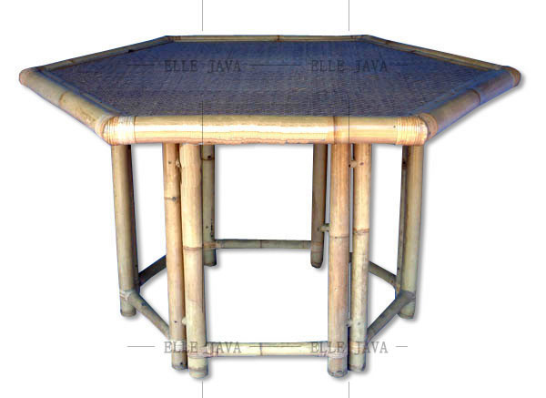Hexagonal table,Bamboo Furniture